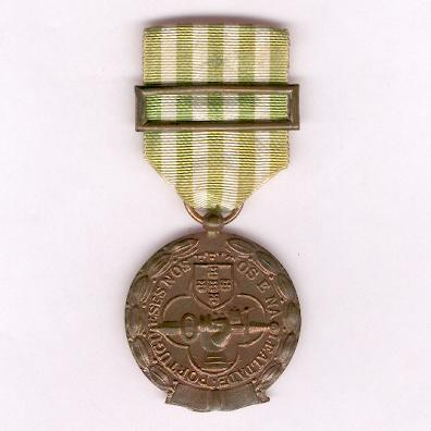 Military Medal for Exemplary Conduct, copper (Medalha Militar de Comportamento Exemplar, cobre), since 1946