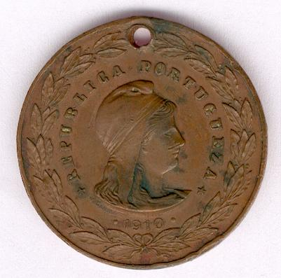 Medal of Military Valour (Medalha de Valor Militar), bronze, 1910