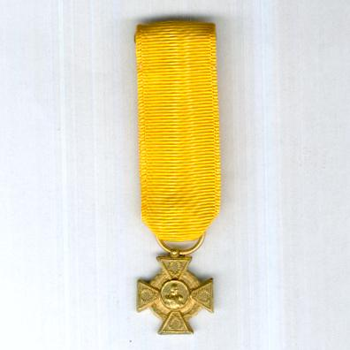 Military Order of General-in-Chief Rafael Urdaneta, I class, for 30 years' service (Orden Militar General en Jefe Rafael Urdaneta, Primera Clase, por 30 años de Servicio), miniature