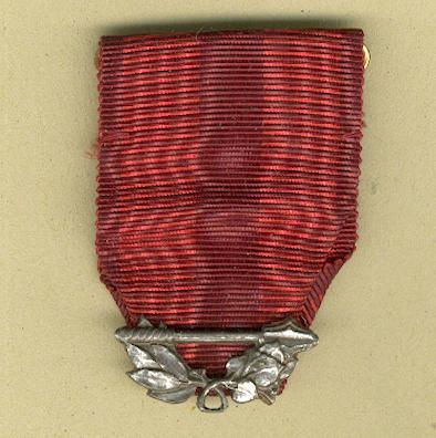 CZECHOSLOVAKIA.  Ribbon for the Order of the Red Star (Řád Rudé Hvìzdy), 1955-1990, with suspension.