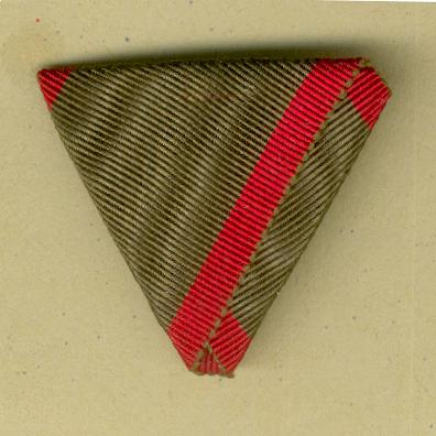 AUSTRIA.  Trifold ribbon for the Medal for the Wounded (Band für die Verwundetenmedaille - Invaliden)