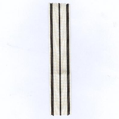 GERMANY, PRUSSIA. Ribbon for the Hohenzollern Commemorative Medal, 1848-1849, combatant (PREUSSEN. Ordensband für die Hohenzollersche Denkmünze von 1848-1849, Kämpfer)