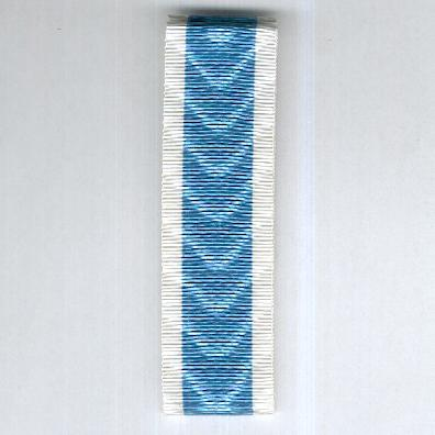 UNCERTAIN RIBBON. Pale blue with white edge stripes