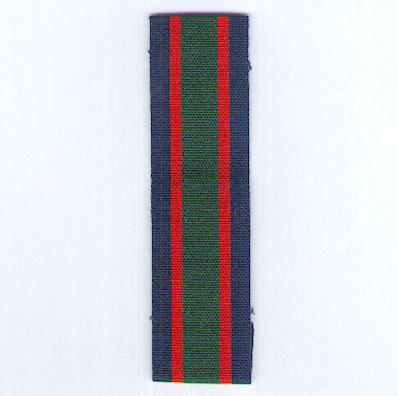 GREAT BRITAIN. Ribbon for the Royal Naval Volunteer Reserve Long Service and Good Conduct Medal