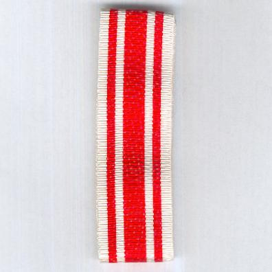 UNCERTAIN RIBBON. Red with white side and edge stripes