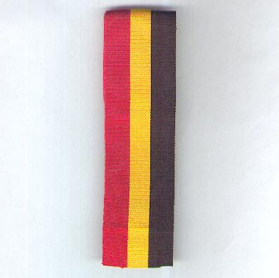 BELGIUM. Broad ribbon in the national colours