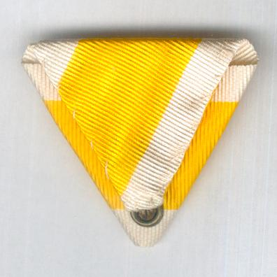 VATICAN. Trifold ribbon for the Bene Merenti Medal