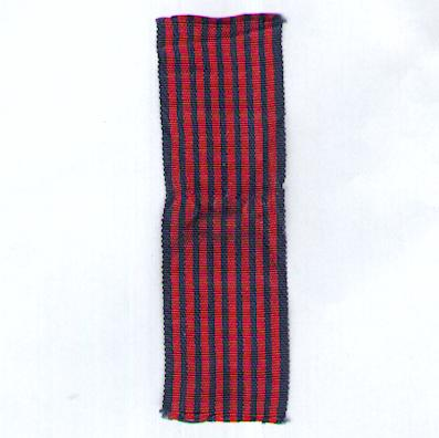 BELGIUM. Ribbon for the Medal of the War Volunteer (Coup de ruban pour la Médaille du Volontaire de Guerre / Lint voor de Medaille van de Oorlogsvrijwilliger)
