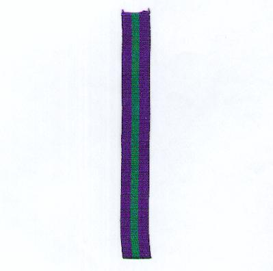 GREAT BRITAIN. Ribbon for the General Service Medal 1918-1962, miniature