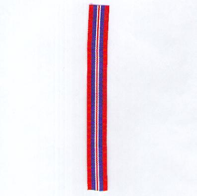 GREAT BRITAIN. Ribbon for the War Medal 1939-1945, miniature