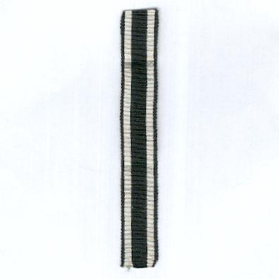 GERMANY, PRUSSIA. Ribbon for the Iron Cross, combatant (PREUSSEN. Ordensband für das Eiserne Kreuz, Kämpfer) 1813, 1870 and 1914, miniature