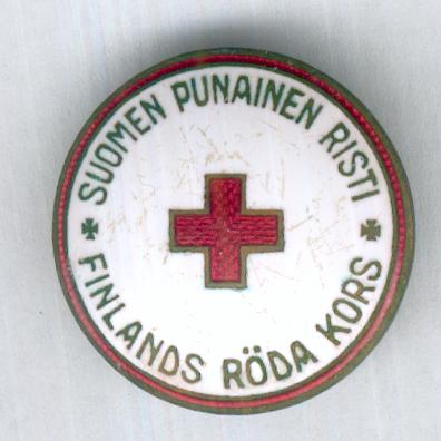 Finnish Red Cross (Suomen Punainen Risti / Finlands Röda Kors) badge