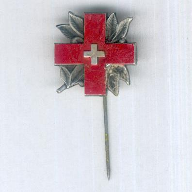 International Committee of the Red Cross stickpin, Geneva, 1945, by Huguenin Frères & Co., Le Locle