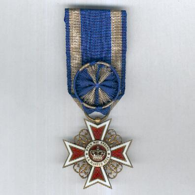 Order of the Crown of Romania, officer (Ordinul Coroana României, ofiţer), 1881-1932 issue, by Karl Fischmeister of Vienna