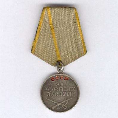 Medal for Combat Service, silver, 2nd type, 2nd version, numbered