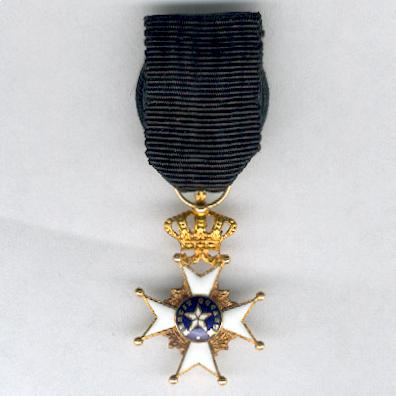 Royal Order of the Northern Star (Kungliga Nordstjärnenorden), knight, miniature