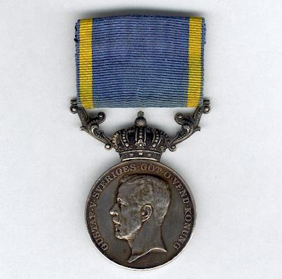 Royal Medal for Zeal and Probity in the Service of the Kingdom (Kunglig Medalj för Nit och Redlighet i Rikets Tjänst), Gustaf V 1918, attributed