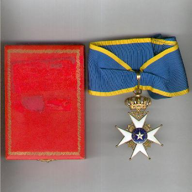 Royal Order of the Northern Star (Kungliga Nordstjärnesorden), commander, in fitted case of issue by C. F. Carlman AB of Stockholm