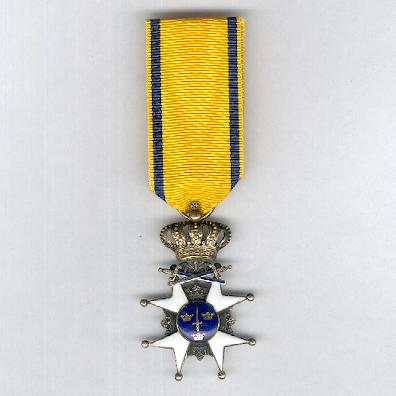 Royal Order of the Sword (Kungliga Svärdsorden), knight I class