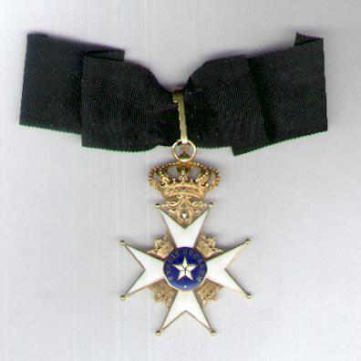 Royal Order of the Northern Star (Kungliga Nordstjärnenorden), commander