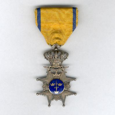 Royal Order of the Sword (Kungliga Svärdsorden), Sword Cross, by C. F. Carlman, Stockholm