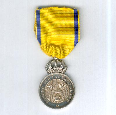 Royal Order of the Sword, Sword Medal (Kungliga Svärdsorden, Svärdsmedaljen), 1963
