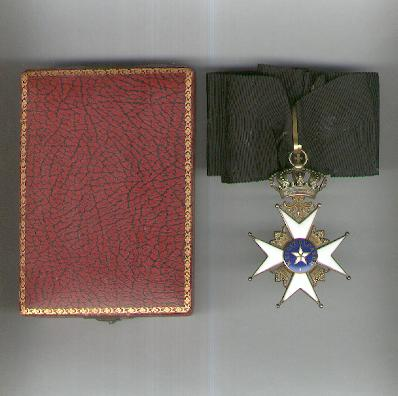 Royal Order of the Northern Star (Kungliga Nordstjärnesorden), commander, in fitted case of issue by C. F. Carlman of Stockholm