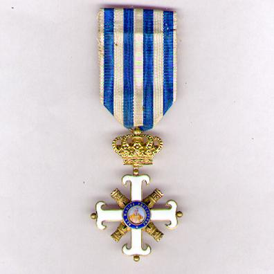 Order of San Marino, Civil and Military Divisions, knight (Ordine Equestre Civile e Militare di San Marino, cavaliere)