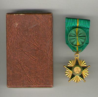 Order of Merit, officer (Ordre du Mérite, officier), cased