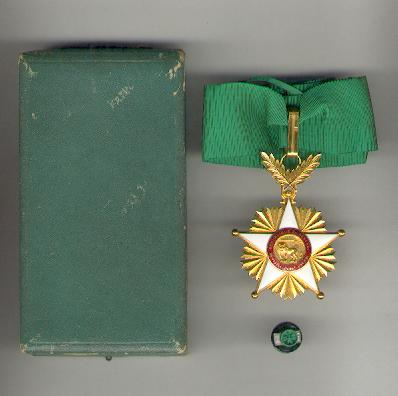 National Order of the Lion, commander, with buttonhole rosette, in fitted case of issue (Ordre National du Lion, commandeur, avec rosette, dans son écrin d'origine) by Arthus Bertrand, Paris