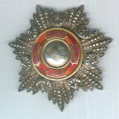 Order of Mejidie (Mecidi Nishani), III class, converted to a breast star