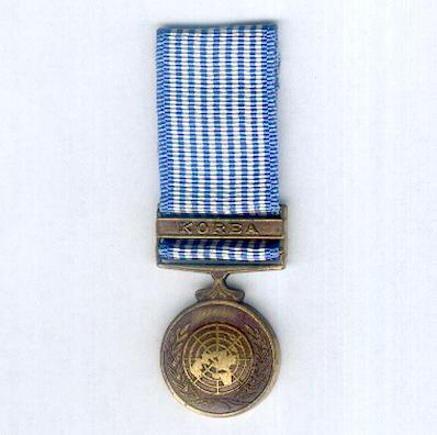 United Nations Korea Medal, 1950-1953, miniature