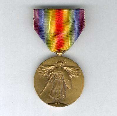 Inter-Allied Victory Medal, United States of America official issue, 1917-1918