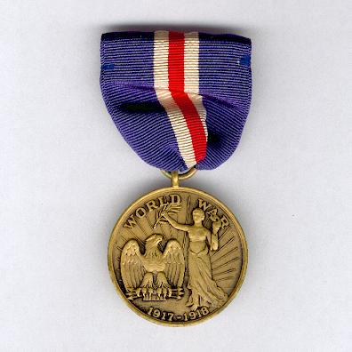Connecticut.  World War I Service Medal, 1917-1918