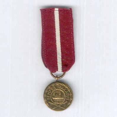 Coast Guard Good Conduct Medal, 1st version, miniature