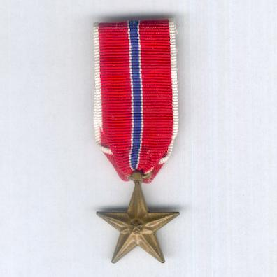 Bronze Star Medal, miniature