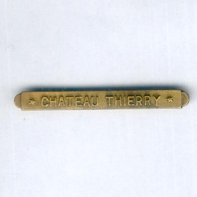 Inter-Allied Victory Medal, United States of America issue, 1917-1918, unofficial 'Chateau Thierry' clasp