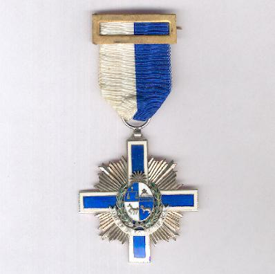 Order of the Eastern Republic of Uruguay, knight (Orden de la República Oriental del Uruguay, caballero), issued 1984-1985