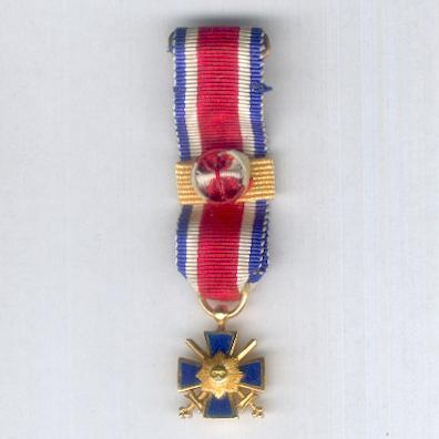 Order of Military Merit of the Lieutenants of Artigas, grand cross (Orden Militar al Mérito Tenientes de Artigas, gran cruz), miniature