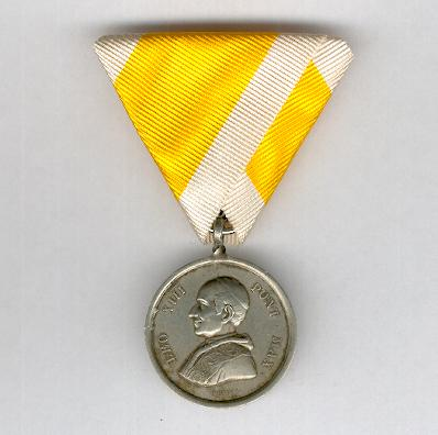 Commemorative Silver Medal for the 50th Anniversary of the Ordination of Pope Leo XIII, 1888