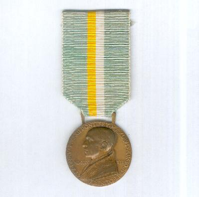 Bene Merenti Medal, Pope Pius XII issue, 1942 by Lorioli of Milan