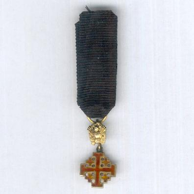 Equestrian Order of the Holy Sepulchre of Jerusalem, military division, knight, miniature