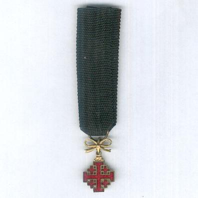 Equestrian Order of the Holy Sepulchre of Jerusalem, civil division, dame, miniature