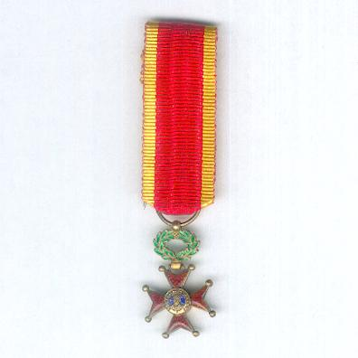 Order of Saint Gregory the Great (Ordo Sanctus Gregorius Magnus), knight, miniature