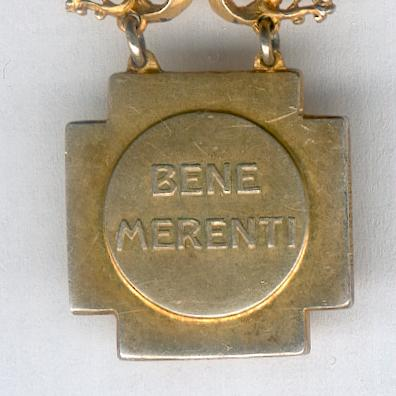 Bene Merenti Medal, Pope Pius X issue, 1903, miniature