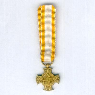 Bene Merenti Medal of the Archdiocese of Mechelen, Belgium, miniature