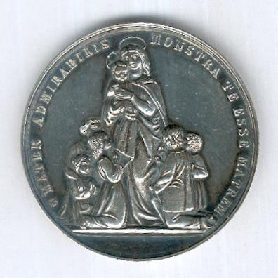 Catholic School Committee Silver Prize Medal, 1888 to 1905 issue