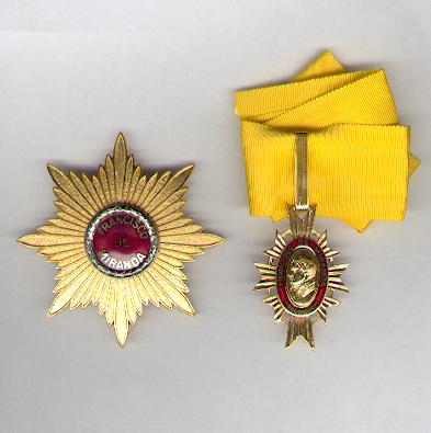 Order of Francisco de Miranda, 2nd class (Orden Francisco de Miranda, Segunda Clase)