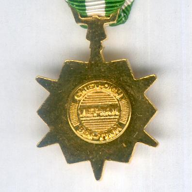 Campaign Medal with '1960-' bar, miniature