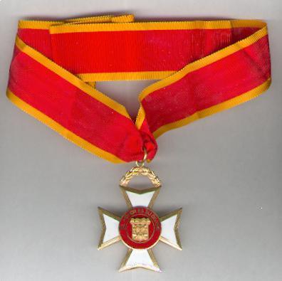 Cross of the Armed Forces of Cooperation - National Guard (Cruz de las Fuerzas Armadas de Cooperación - Guardia Nacional)
